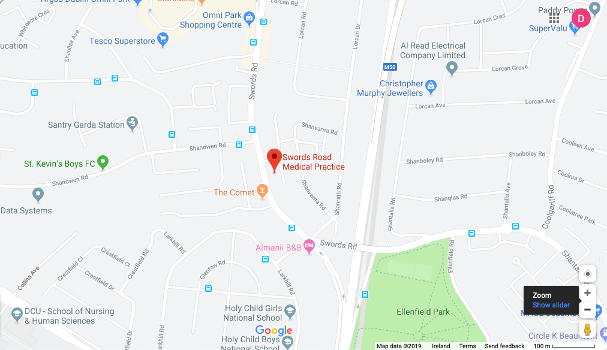 swords road medical centre map
